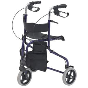 Drive DeVilbiss Blue Tri Walker with Seat
