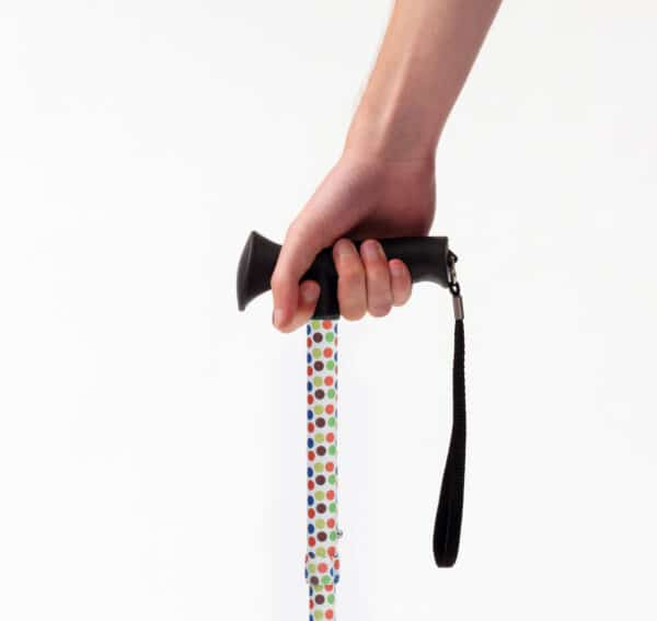 Petite Gel Handle Cane Spotty By Drive DeVilbiss
