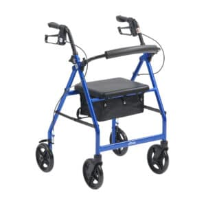 Blue R8 4 Wheel Rollator By Drive DeVilbiss
