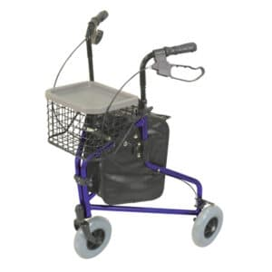 Aidapt Tri Walker With Bag, Basket And Tray