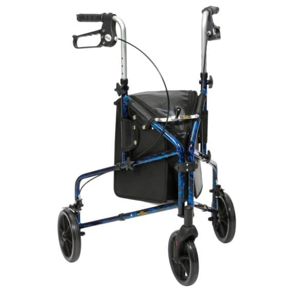 Ultra Lightweight Tri Walker With Bag Blue Flame by Drive DeVilbiss