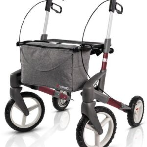 New Topro Olympos ATR Rollator, With Off-Road Wheels - Wine Red