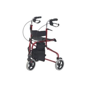 Red Tri Walker with Seat by Drive DeVilbiss