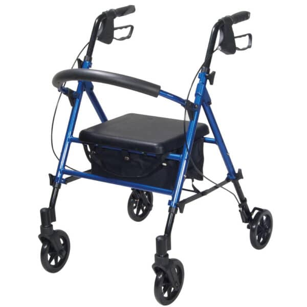 Blue R8 Rollator With Height Adjustable Seat