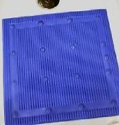 Isagi 'Silver Technology' Square Shower Mat - Blue