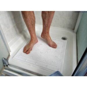 Isagi 'Silver Technology' Square Shower Mat - White