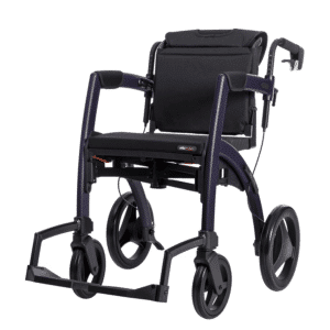 Rollz Motion 2 Rollator & Wheelchair - Matt Purple