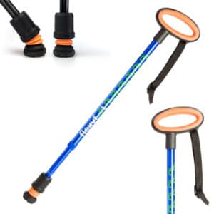 Flexyfoot Telescopic Cane Blue Oval Handle
