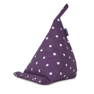 Blue Badge Co Mini Bean Bag Tablet Stand Purple Spotty