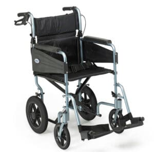 Days Healthcare Escape Lite Attendant-Propelled Wheelchair - Silver Blue