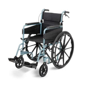 Days Healthcare - Escape Lite Self-Propelled Wheelchair - Silver Blue