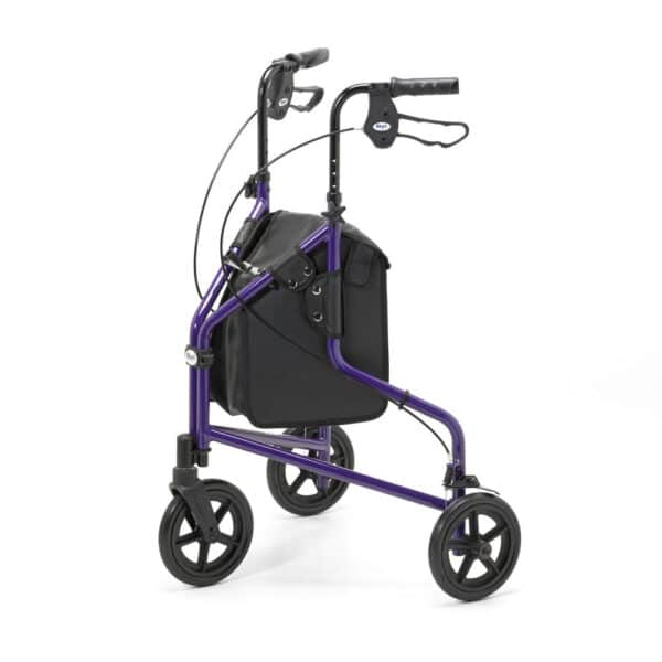 Days Healthcare Lightweight Tri Walker With Bag, Basket And Tray - Purple