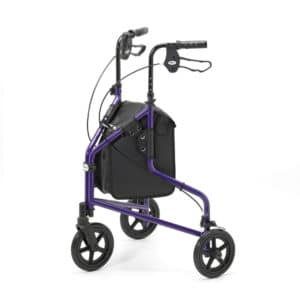 Days Healthcare Lightweight Tri Walker With Bag - Purple