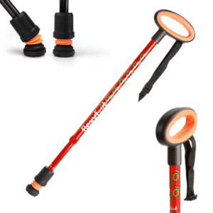 Flexyfoot Telescopic Cane - Red - Oval Handle