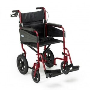 Days Healthcare Escape Lite Attendant-Propelled Wheelchair - Ruby Red