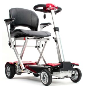 Autofold Elite Automatic Folding Mobility Scooter - Red