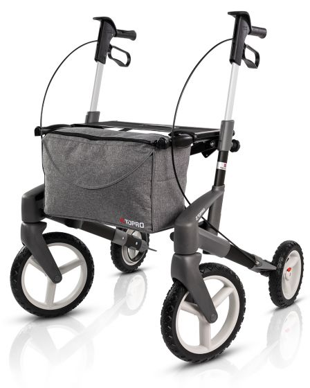 New Topro Olympos ATR Rollator, With Off-Road Wheels - Black